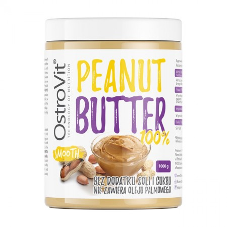OSTROVIT Peanut Butter 100% smooth 1000g