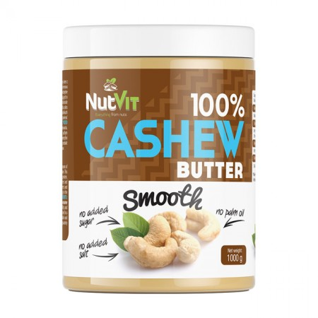 NUTVIT 100% Cashew Butter Smooth 1000g