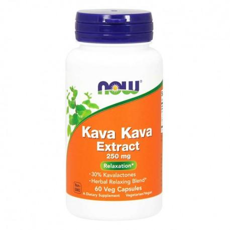 NOW FOODS Kava Kava Extract 250mg 60kap vege