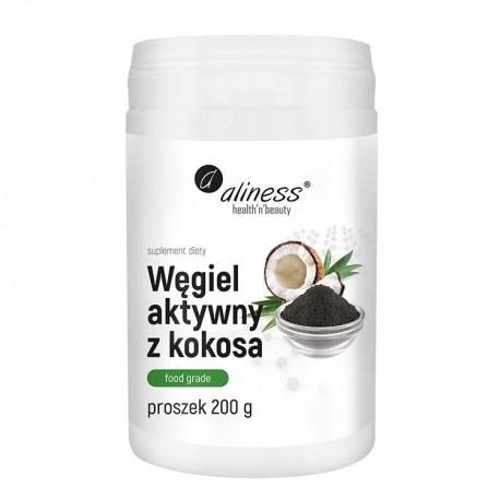 ALINESS  Węgiel aktywny z kokosa FOOD GRADE 200g