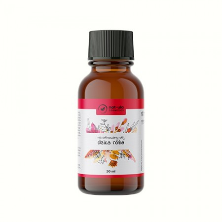 NAT-ULA Olej z Pestek Dzikiej Róży Nierafinowany 50ml