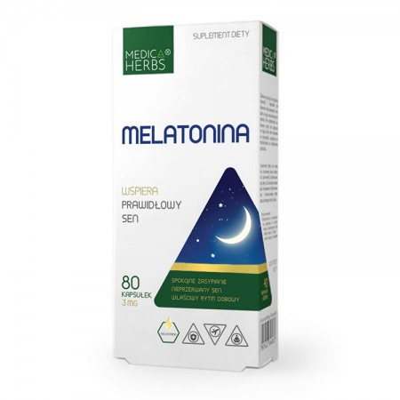 MEDICA HERBS Melatonina 3mg 60kaps