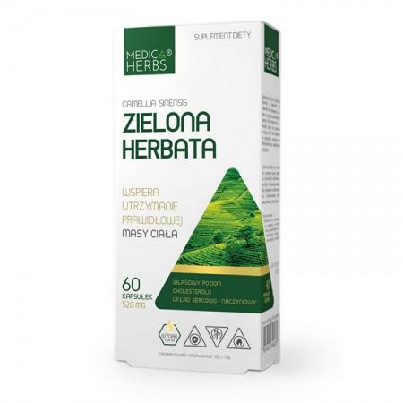 MEDICA HERBS Zielona herbata 60kaps