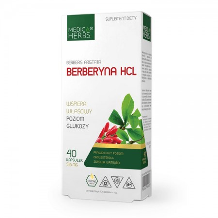 MEDICA HERBS Berberine HCL 40kaps
