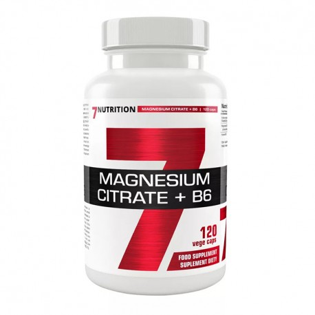 7NUTRITION Magnesium Citrate + B6 120kap