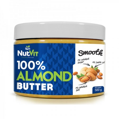 NUTVIT 100% Almond Butter Smooth 500g