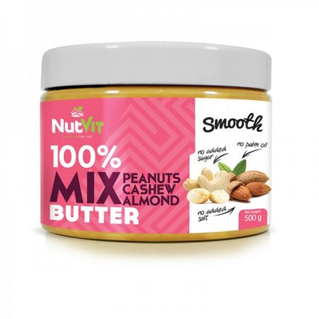 NUTVIT 100% Mix Butter Smooth 500g