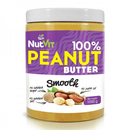 100% Peanut Butter 1kg Smooth