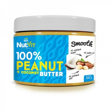 100% Peanut + Coconut Butter 500g Smooth
