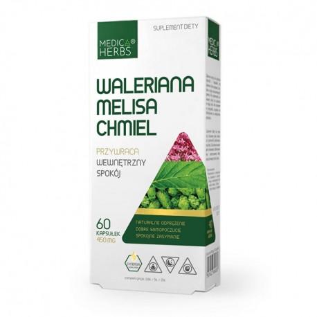 MEDICA HERBS Waleriana Melisa Chmiel 60kaps