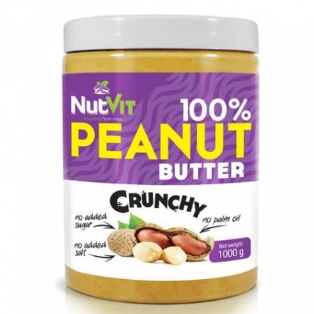 NUTVIT 100% Peanut Butter 1000g Crunchy