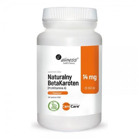 ALINESS Naturalny BetaKaroten 14mg 100tab vege