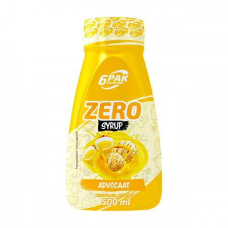 6PAK NUTRITION Zero Syrop Advocaat 500ml
