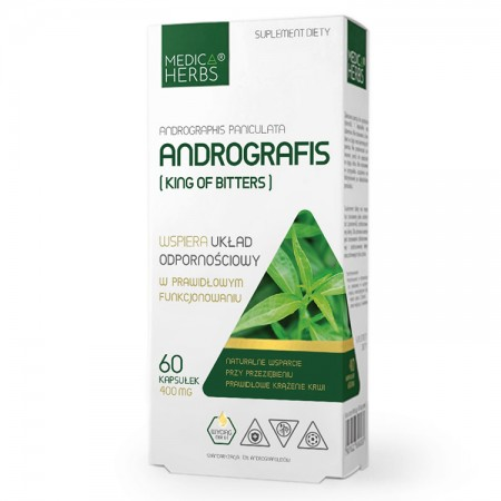 MEDICA HERBS Andrografis (King of Bitters) 60kaps