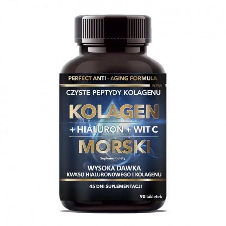 INTENSON Kolagen morski + hialuron + wit. C 90tab