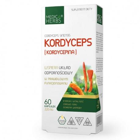 MEDICA HERBS Kordyceps (Kordycepina Cordyceps sinensis) 60kaps