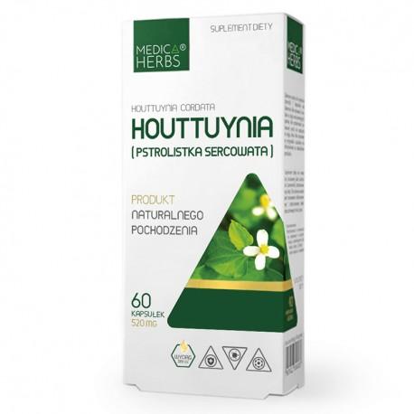 MEDICA HERBS Houttuynia cordata (Pstrolistka sercowata) 60kaps
