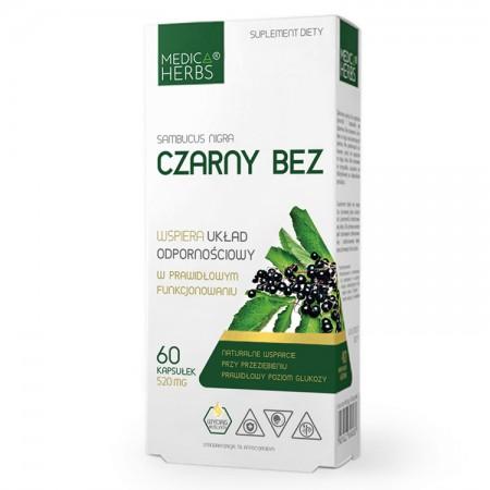 MEDICA HERBS Czarny bez (Sambucus nigra) 60kap