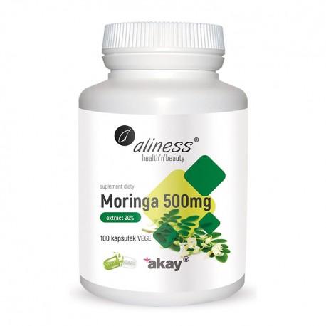 ALINESS Moringa ekstrakt 20% 500mg 100kap vege