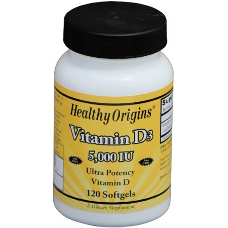 HEALTHY ORIGINS Witamina D3 5000IU 120kap