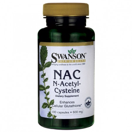 SWANSON NAC N-Acetyl Cysteine 100kap N-Acetyl L-Cysteina
