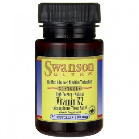 SWANSON Vitamin K2 100mcg 30kap Witamina MK-7