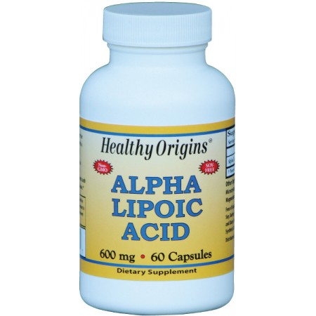 HEALTHY ORIGINS Alpha Lipoic Acid 600mg 60kap