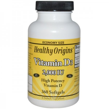 HEALTHY ORIGINS Vitamin D3 2000IU 360kap