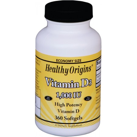 HEALTHY ORIGINS Vitamin D3 1000IU 360kap