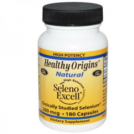 HEALTHY ORIGINS Selenoexcell 200mcg 180kap Selen