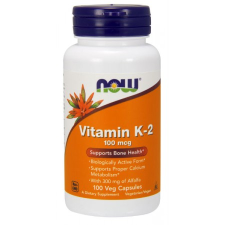 NOW FOODS Witamina K2 100mcg 100kap