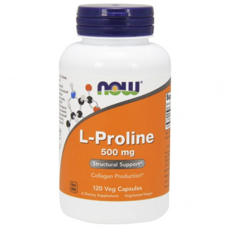 NOW FOODS L-Proline 500mg 120kap L-Prolina