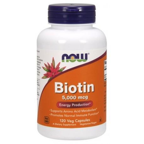 Biotin Biotyna 5mg 120kap