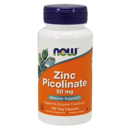 NOW FOODS Zinc Picolinate 50mg 120 weg kap