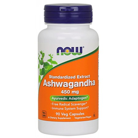 NOW FOODS Ashwagandha 450mg 90kap wege