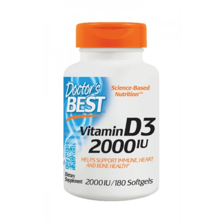DOCTOR'S BEST Vitamin D3 2000iu 180kap