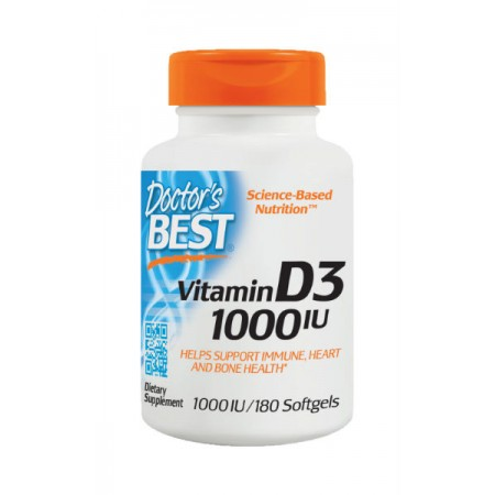 DOCTOR'S BEST Vitamin D3 1000iu 180kap