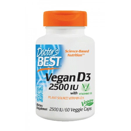 DOCTOR'S BEST Vegan D3 2500iu 60kap