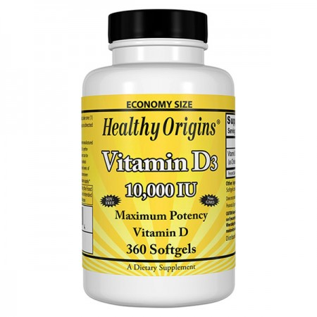 HEALTHY ORIGINS Vitamin D3 10000iu 360kap