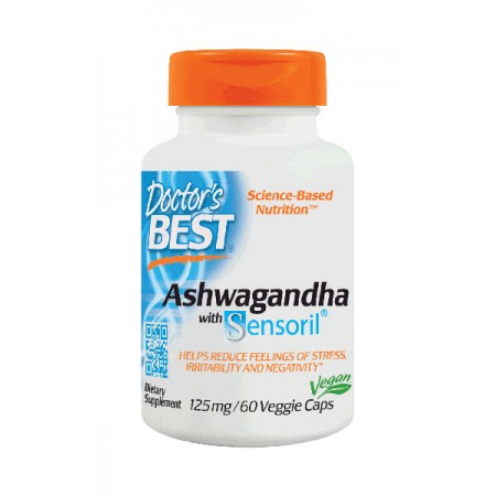 DOCTOR'S BEST Ashwagandha with Sensoril® 125 mg 60kap wege
