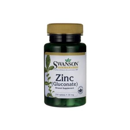 SWANSON Zinc Gluconate 250tab 30mg Glukonian Cynku