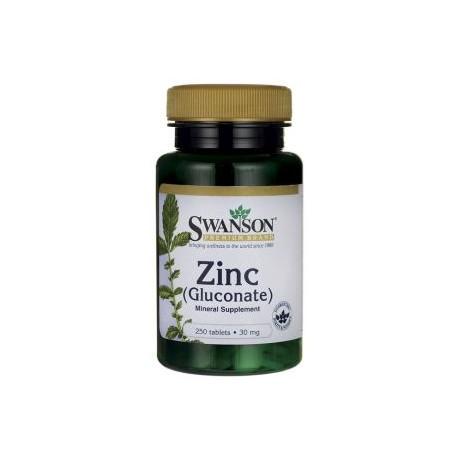 SWANSON Zinc Gluconate 250tab 30mg