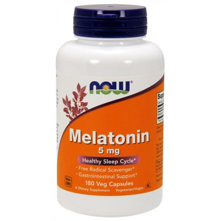 NOW FOODS Melatonin (Melatonina) 5mg 180wege kap