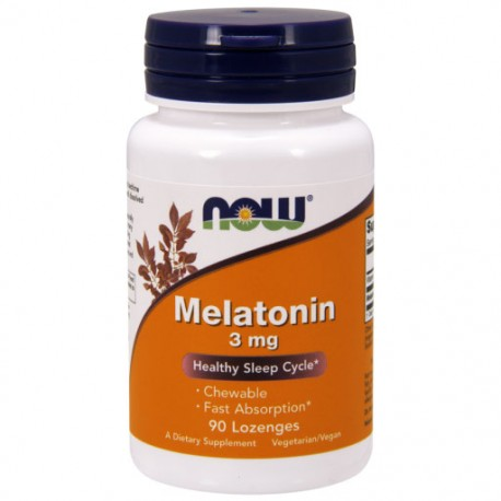 NOW FOODS Melatonin (Melatonina) 3mg 90 pastylek